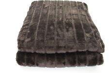 Manta de piel efecto Visón 150 x 200cm Colcha Cubierta SOFA Look Marrón 1,4kg