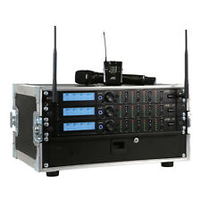 JTS 12 Way R-4 'All Racked Up' System inc 12x JSS-4B Handheld Mics & Flightcase