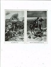 POST CARDS EARLY PRINTED TWO RUSSIAN MILITARY CARDS ART CARDS BY A PEARCE