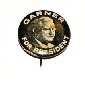 1940 JOHN NANCE GARNER campaign pin pinback button political badge presidential