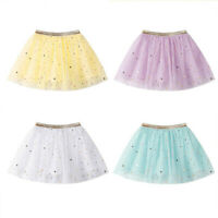 Fashion Baby Kids Girls Princess Stars Sequins Party Dancing Ballet Tutu Skirts