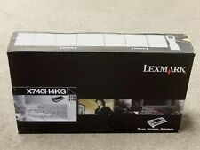 182Lexmark X746H4KG Black High Yield Toner Cartridge X746 Genuine New Sealed Box