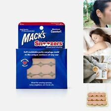 USA Mack's Snoozers Silicone Putty Earplugs - Moldable Snore Blocking Ear Plugs