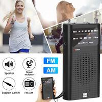 Mini Portable Digital AM/FM Radio Battery Powered Receiver w/ Telescopic Antenna