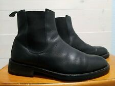 Banana Republic Men's Black Leather Chelsea Boots Sz 9.5 Made in Italy