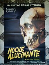 Rare Vintage Authentic Evil Dead 2 Noche Alucinante 27x40 Movie Poster Argentina