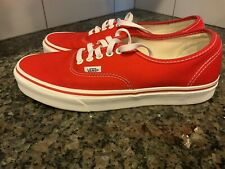 VANS Authentic Core Classic Red Skate Casual Shoe Men's Size 10 No Box