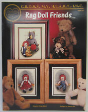 Counted Cross Stitch Instruction & Pattern Book Rag Doll Friends & Bear Designs