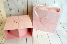 Oasis Oxford Heart Box Lined Pink/Silver/ White set of 2 Flowers Gifts Living