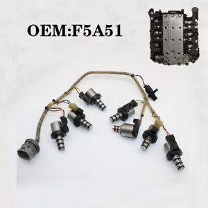 Original Transmission Solenoid Valve Kit W/ Harness F5A51 For Mitsubishi Hyundai