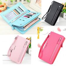 Women Long Wallets Phone Bag Card Holder Lady Candy Color Tasche Handbag Purse