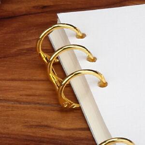 DIY Metal Clip 3 Holes Ring For Notebook Loose Leaf Diary Photo Album Bindin_cd