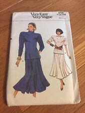 Very Easy Very Vogue Sewing Pattern 9706 Top And Skirt 8-10-12 Uncut