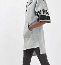 IVY PARK Gray Black Graphic Logo Hoodie Sweater Dress Beyonce EUC Hip Hop Blue