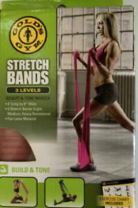 NEW Golds Gym 3 Levels Stretch Bands Build & Tone Muscles