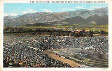 California postcard Pasadena The Rose Bowl football Tournament of Roses Stadium