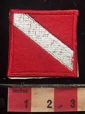 Vtg Scuba Diver Flag Patch ~ 72Y4