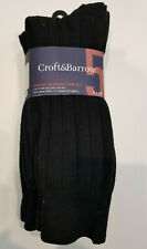 Croft & Barrow 5-pack Men's Crew Added Spandex For Fit Socks Size 7-12 Assorted