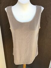 New Rare! Chico's Travelers Lined Sand Tank Top Cami Shirt Size 3 = XL 16 18 NWT