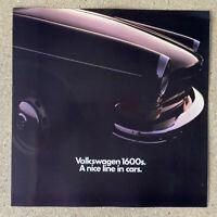 1971 Volkswagen 1600 original Australian sales brochure (good)