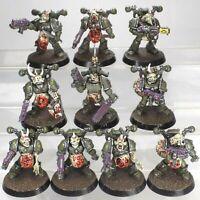 Nurgle death guard chaos space plague marines kill team (Plaguebearers heads)