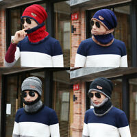 Mens Knitted Hat Thinsulate Warm Winter Wooly Outdoor Chunky Thermal Beanie Ski