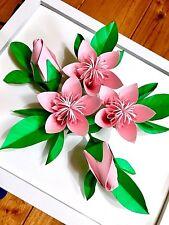 Origami cherry blossom paper sakura flower kusudama war art decor gift