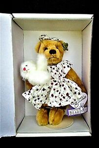 1990'S ANNETTE FUNICELLO BEAR CO. TEDDY BEAR WITH KITTY & BOX