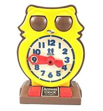Tomy Answer Clock 1975 Owl Childrens Educational Toy Vintage Numbers Learn Time