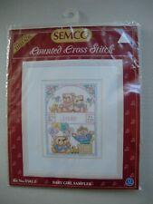 Semco Counted Cross Stitch Kit - Baby Girl Sampler
