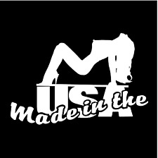 Sexy Nude Woman Made In Usa Car Truck Window Wall Laptop Vinyl Decal Sticker.