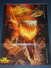 STEVE McQUEEN PAUL NEWMAN The Towering Inferno 1975 Japan Poster IRWIN ALLEN#TF6