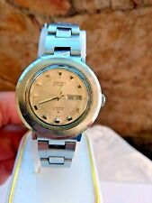 vintage seiko Hi-Beat 2206-0660 17 jewels automatic lady watch pink dial day/dat