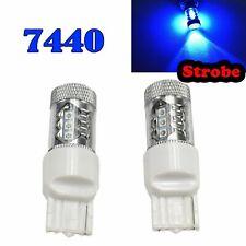 Strobe T20 7440 7441 992 W21W 12V 80W Blue LED Front Signal Light M1 GM BAU