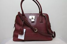 DKNY Satchel Bags Brown Beekman Lizard French Grain Round Satchel Bag