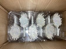 Battery Powered Blinking Holiday Lights 50+ LED White Snowflake Clip On Bulbs