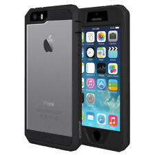 Hybrid Heavy Duty Shockproof Full-Body Protective Case iPhone 5, 5s, SE - Black