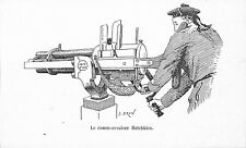 LE CANON REVOLVER HOTCHKISS  ILLUSTRATION 1885