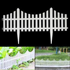 12pcs Garden Plastic Fence Outdoor Lawn Edging Border Panel Edge Fencing Yard
