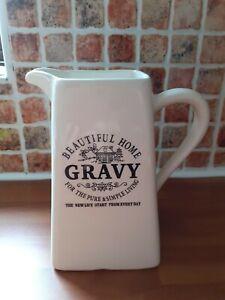 "Cream large farmhouse  Gravy Jug"" Beautiful Home"""
