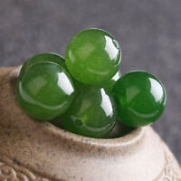4/6/8/10/12/14mm Natural Nephrite Green Jade Round Gemstone Loose Beads Y1779