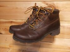 Women's Timberland Brown Leather Boots Waterproof US 8 UK 6 Lace Up