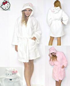 NWT Sanrio Hello Kitty ULTRA warm SHERPA Fleece Robe with Kitty Face M,L,XL