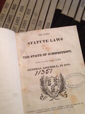 1831-1839 Public Acts  of the state of Connecticut Antique American Law Books
