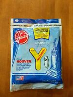 Hoover Type Y Allergen Filtration Bags 4010100Y NEW (1 package contains 3 bags)