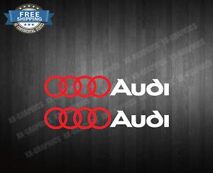 2 Decal Stickers For Audi Rings A3 A4 A5 A6 A7 A8 S3 S4 S5 graphic sticker