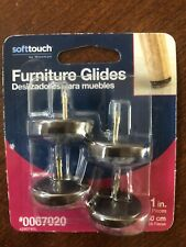Furniture Glides Soft Touch 1 Inch 4 Pieces