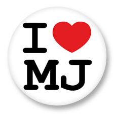 Pin Button Badge Ø38mm ♥ I Love You j'aime Ti amo te amo  MJ Michael Jackson