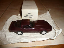 1982 C3 Chevrolet Corvette Promotional Model- Promo Dark Claret
