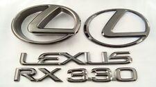 2005 LEXUS RX330 BLACK PEARL PLATED EMBLEM KIT